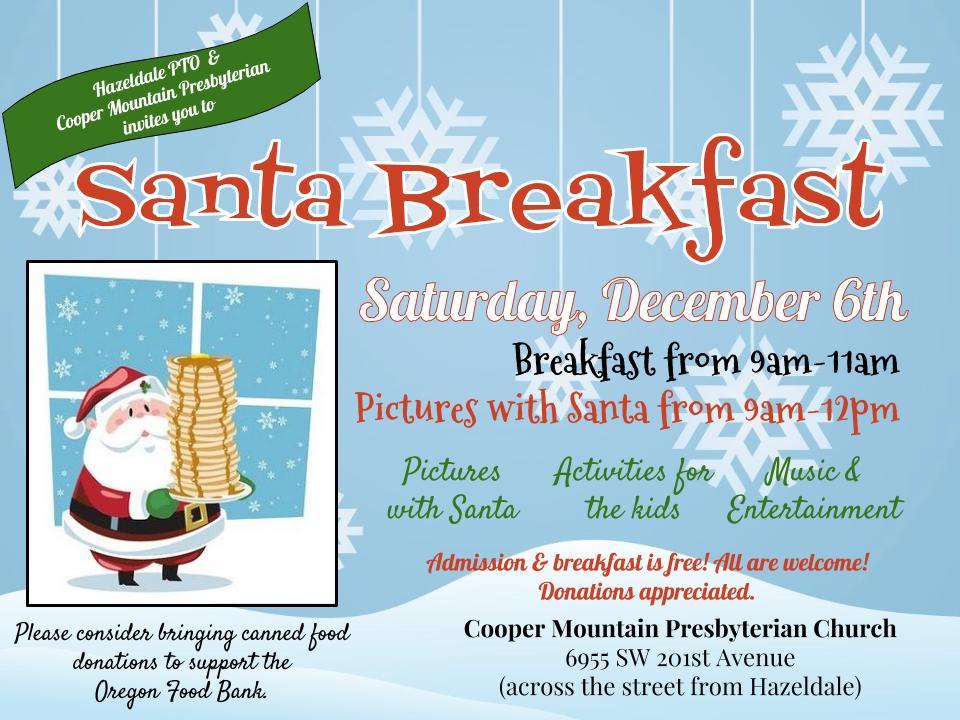 santa breakfast 2014